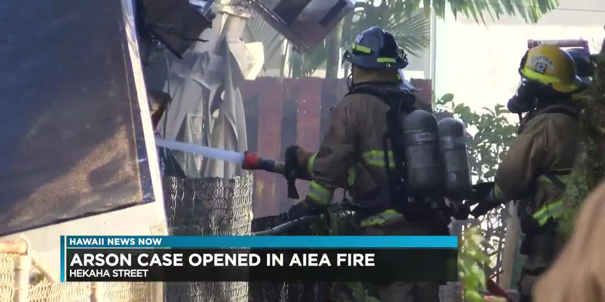 Arson case opened following raging, 2-alarm house fire in Aiea