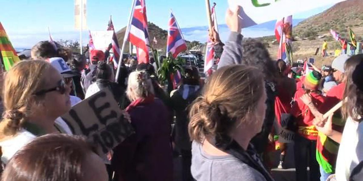 Hawaii National Guard: there's been no request to respond to Mauna Kea