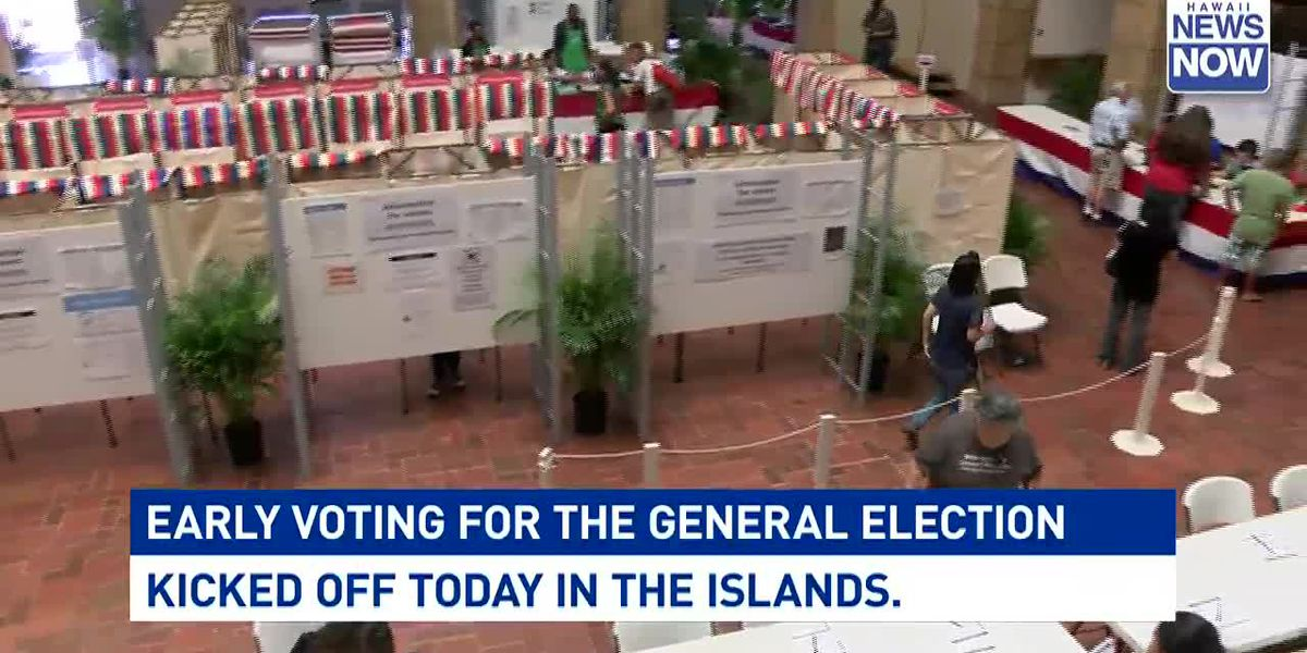 Early voting kicks off in Hawaii