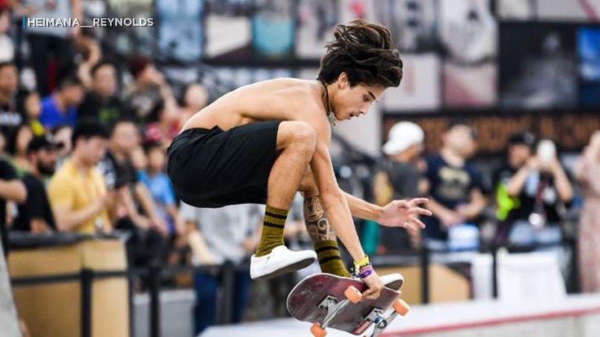 'I'm still going to reach for that goal': Olympic skateboarder Heimana Reynolds still eyes history in 2021 games