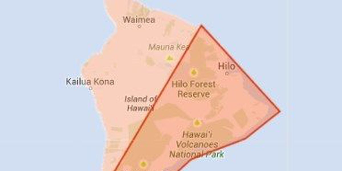 Flash Flood Warning extended for portions of Hawaii Island