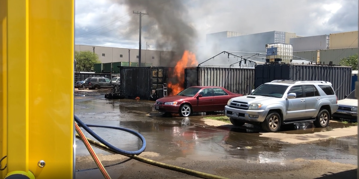 HFD investigates the cause of a fire at Campbell Industrial Park
