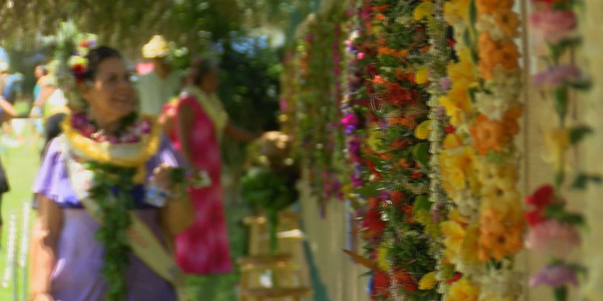 Golden lei for 'golden years' at Honolulu's May Day celebration