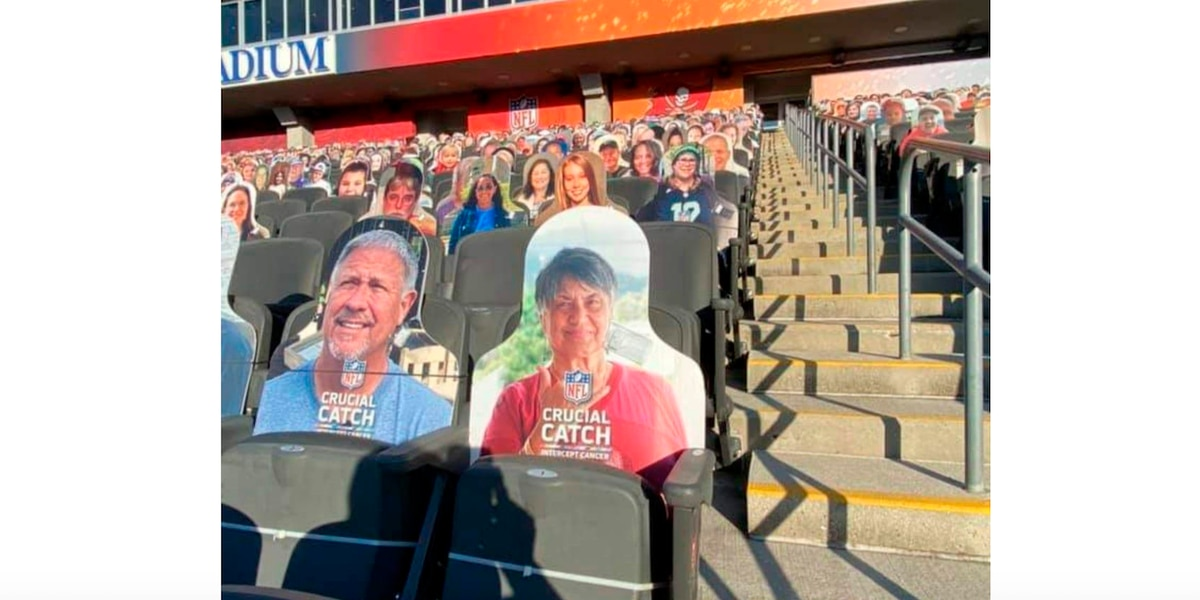 A cardboard cutout at Super Bowl LV held special meaning for a Hawaii cancer survivor