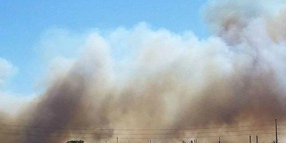 Wind-whipped brush fires burn in Leeward Oahu