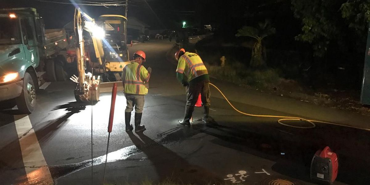 Water restored to dozens of homes after main leak in Aiea Heights