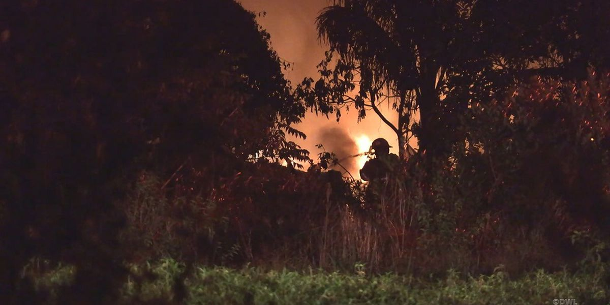 Several explosions heard after flames erupt from Orchidland property
