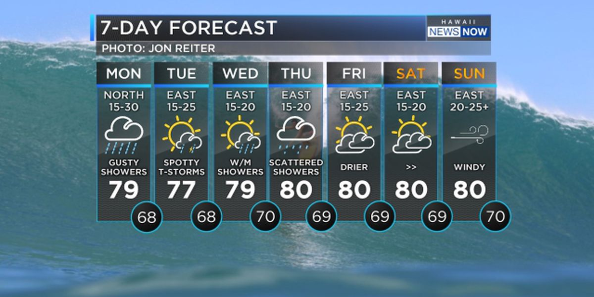 Forecast: Cold front brings heavy rain and gusty winds