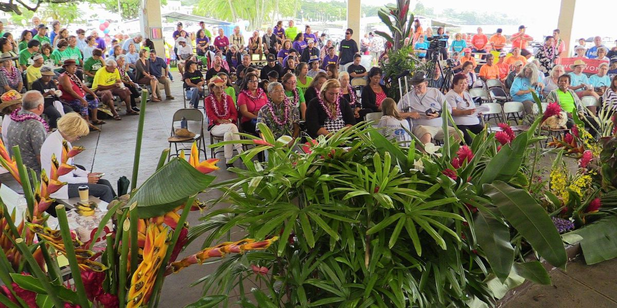 Democrats assemble at Hilo Grand Rally day before primary election