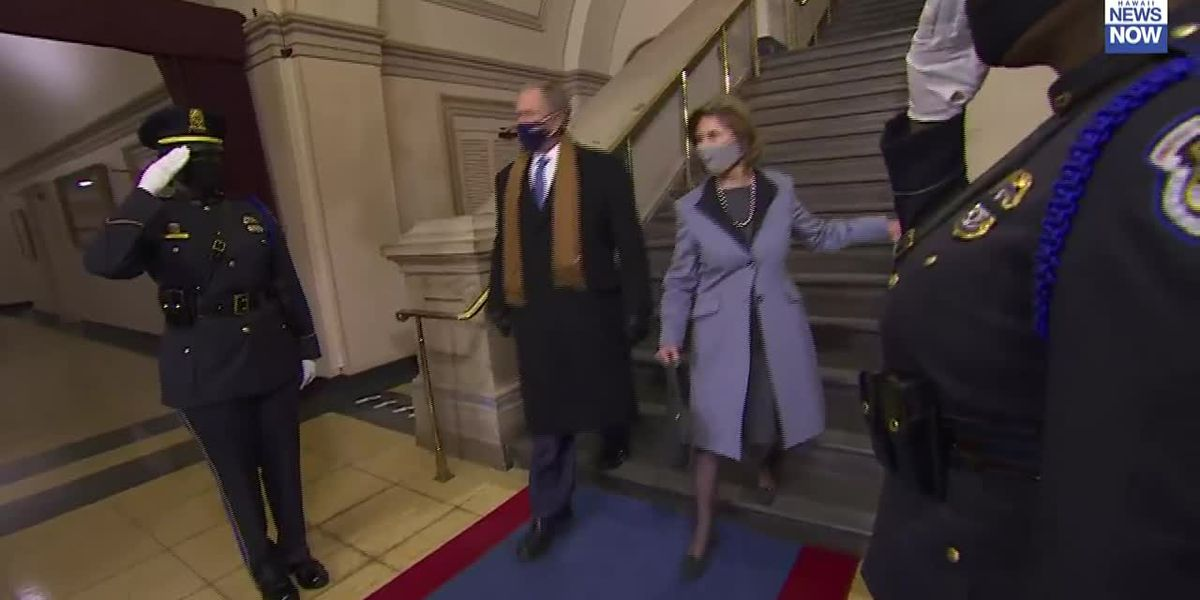 Former presidents Clinton, Bush arrive at U.S. Capitol for Biden's inauguration
