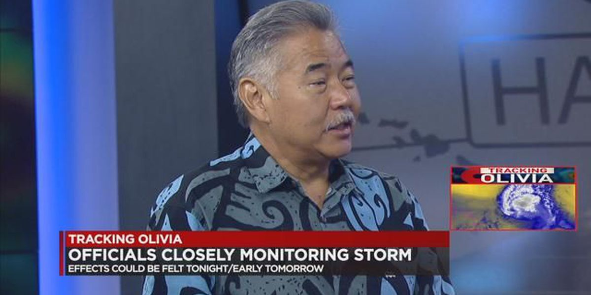 Governor Ige and Other Officials Prepare for Tropical Storm Olivia