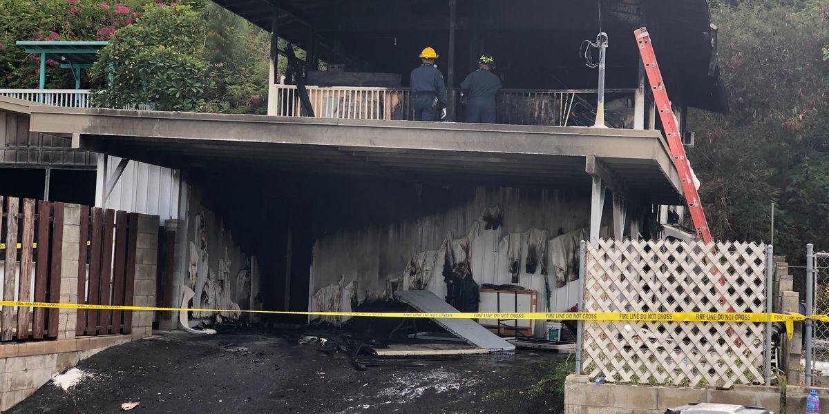 HFD investigating 2-alarm blaze that tore through Kailua home