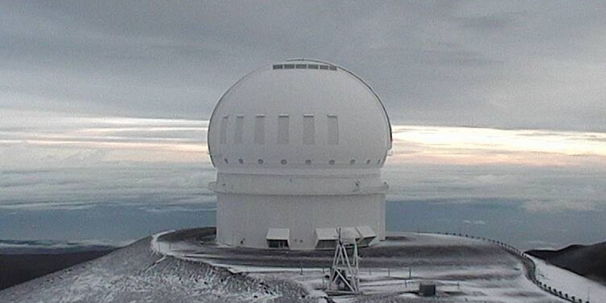 It's snowing on Mauna Kea thanks to unstable weather