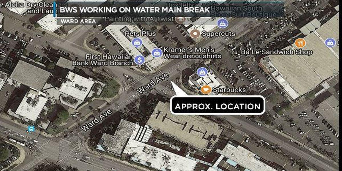 BWS completes repairs to water main break in Ward area