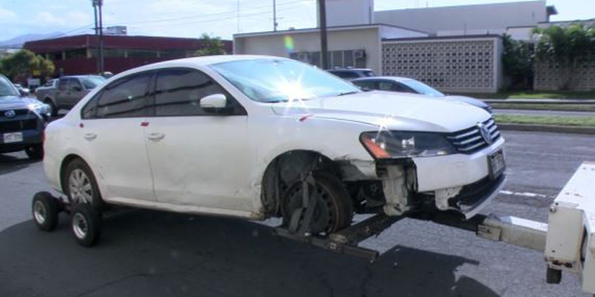 Car seized after fatal hit-and-run in Makaha is towed from police lot