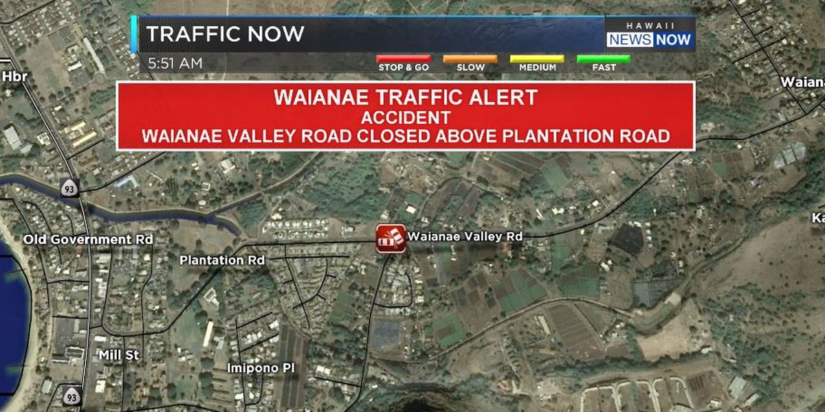 TRAFFIC ALERT: Waianae Valley Rd. reopened following crash, damaged pole