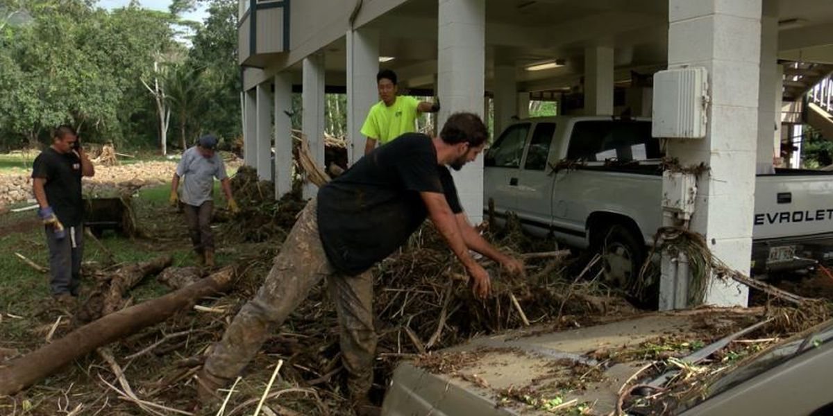 Officials continue storm damage assessment on flood-ravaged Kauai