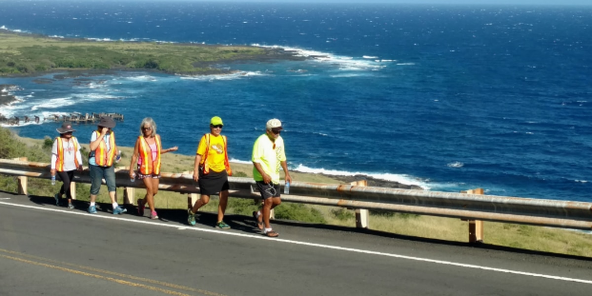 Hawaiian-style 'Forrest Gump' reaches 100-mile mark (in slippahs)
