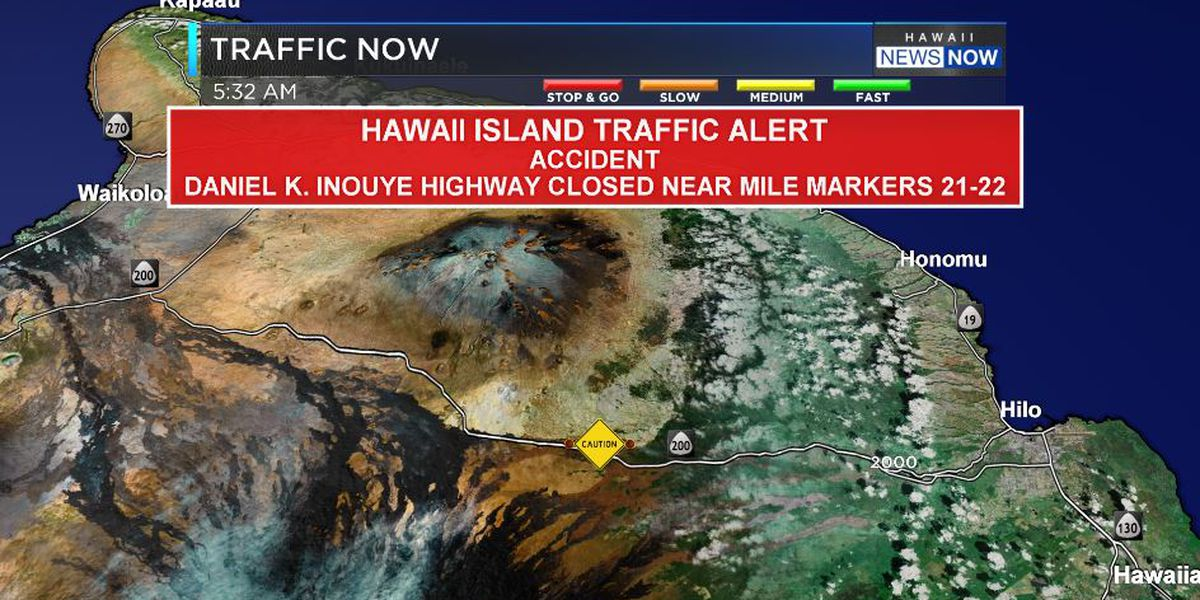 1 dead after van collides with fuel tanker on Daniel K. Inouye Hwy. on Big Island