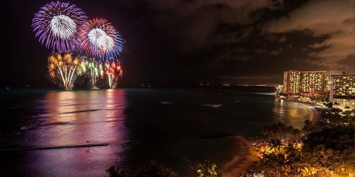 List of fireworks shows on Oahu to ring in 2016