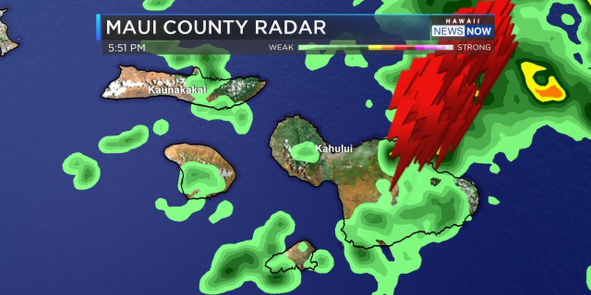 Thunderstorms bring heavy rain, lightning to east end of state