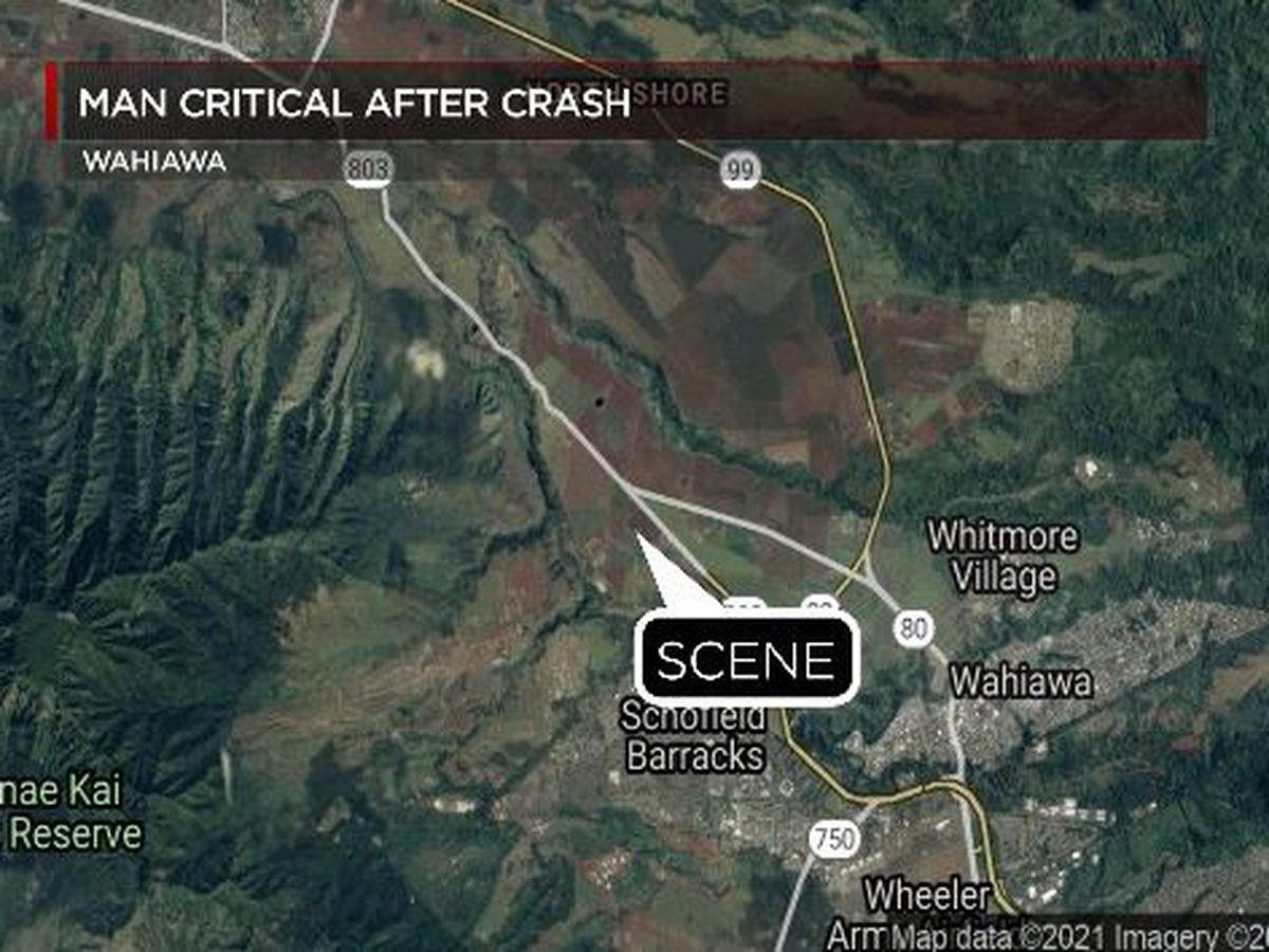 Motorcyclist dies following crash in Central Oahu