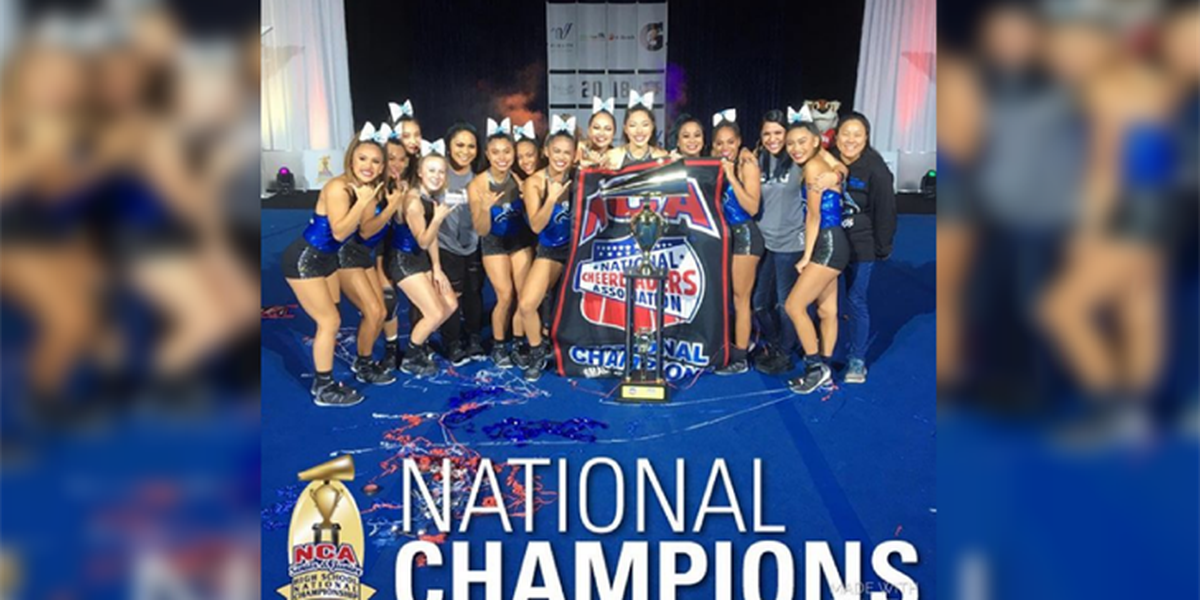 Moanalua Menehune cheerleaders win national title
