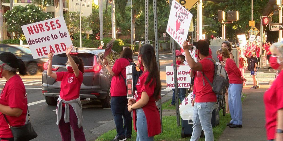 After unsuccessful negotiations, nurses of Kapiolani Medical Center vote to strike