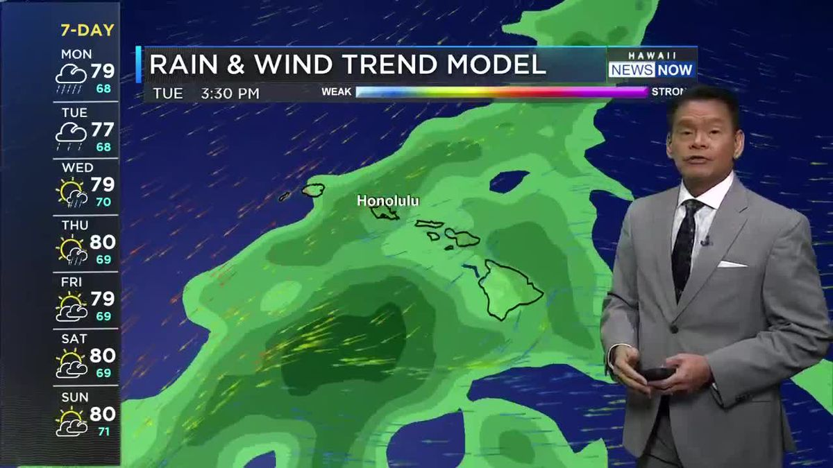 Wet weather for much of the coming week