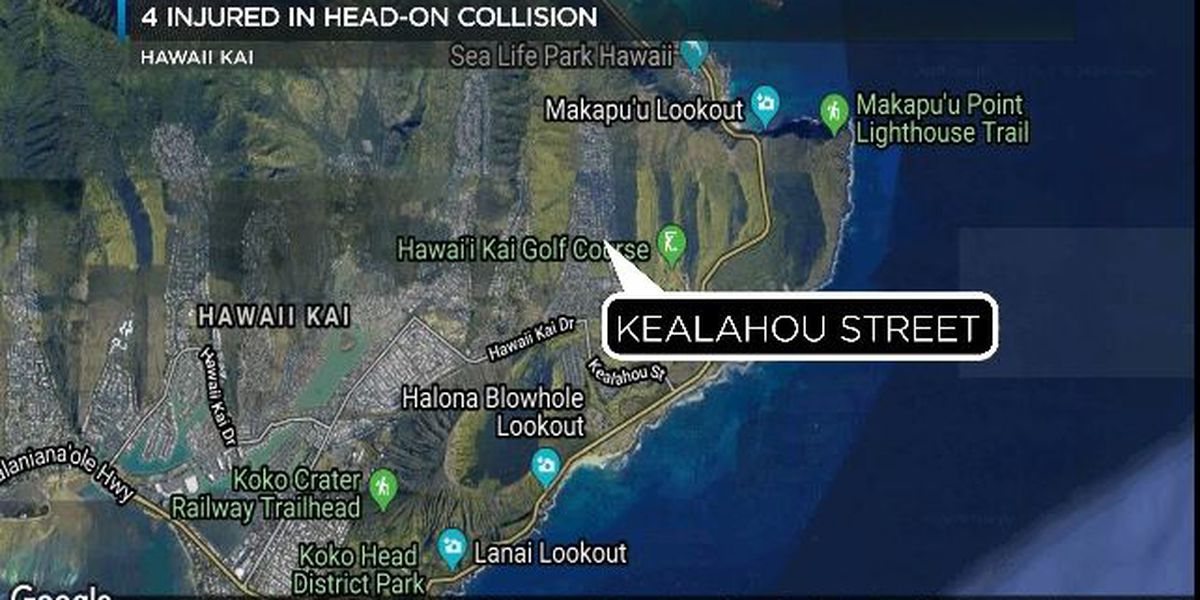 Police: Speed, drugs likely factors in crash that injured 4 in Hawaii Kai