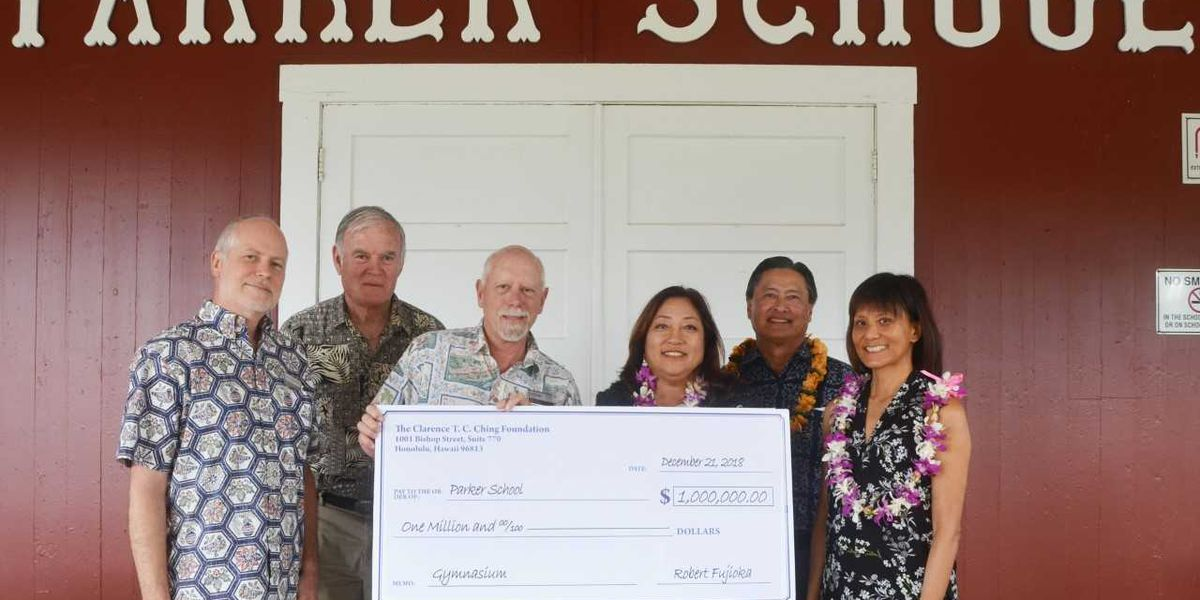 A Hawaii Island school gets a big donation for a much needed facility
