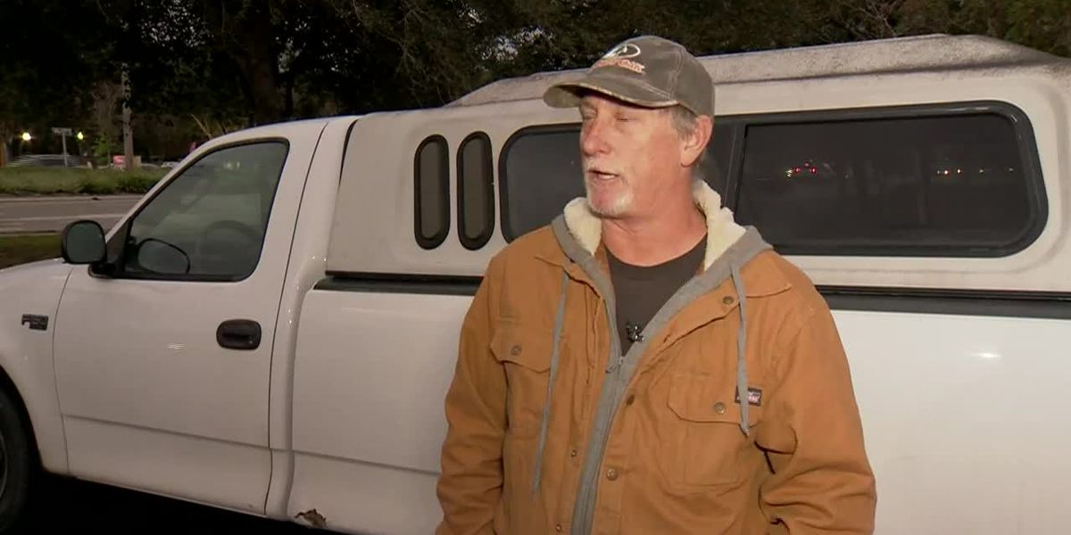 A bystander rendered aid at the scene of a fiery crash. Then someone took his truck.