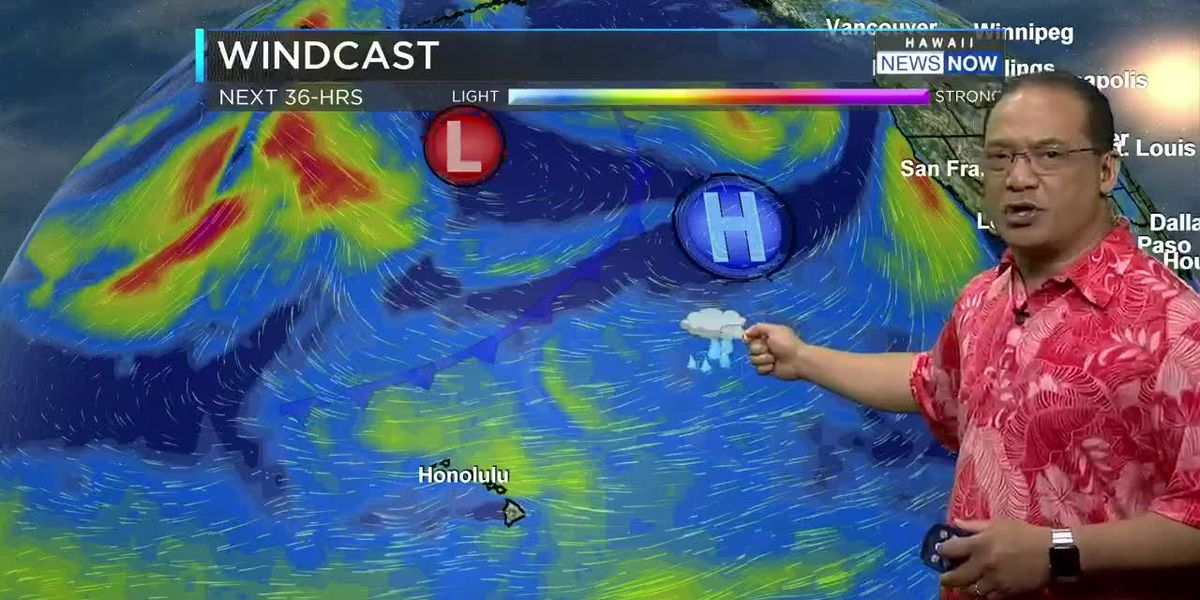 Trade Winds For One More Day, Rain Tomorrow