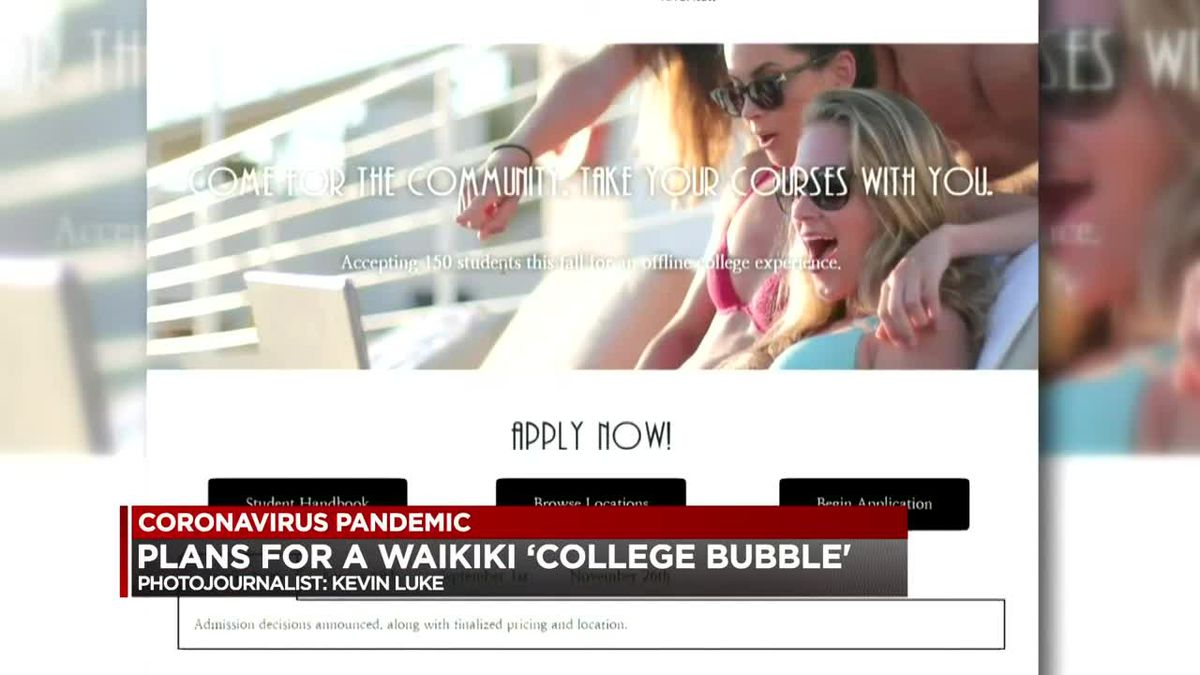 Study in paradise? Mainland students are being recruited for a 'college bubble' in Waikiki