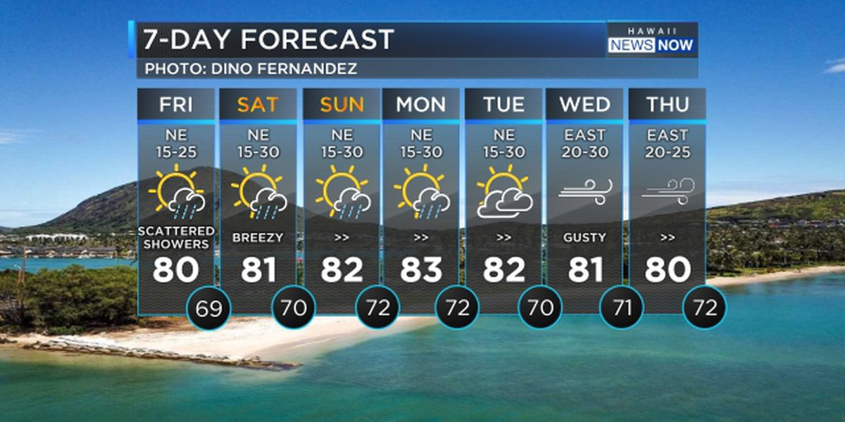 Forecast: Blustery weather holds into the weekend