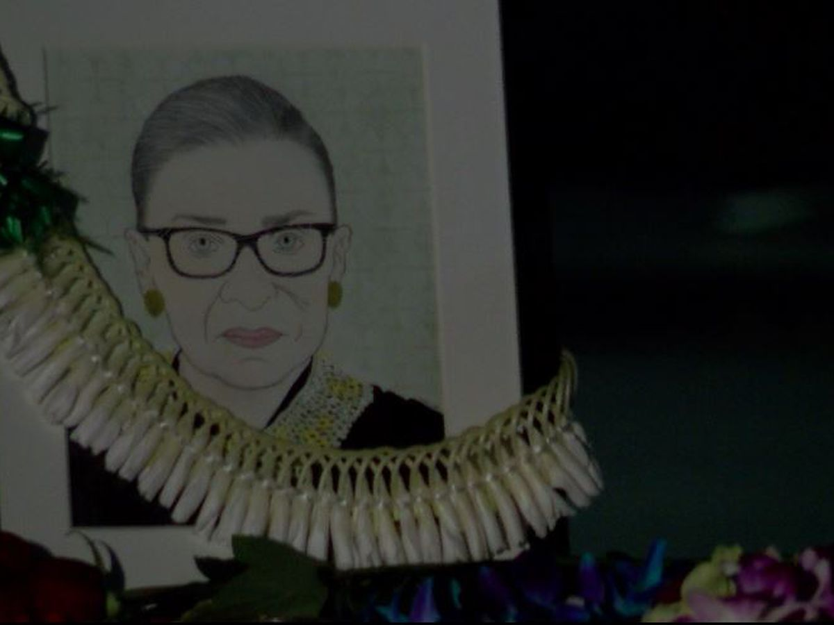 Candlelight vigil honored life, legacy of late Justice Ruth Bader Ginsburg
