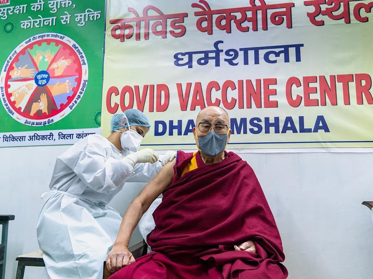Dalai Lama receives coronavirus vaccine