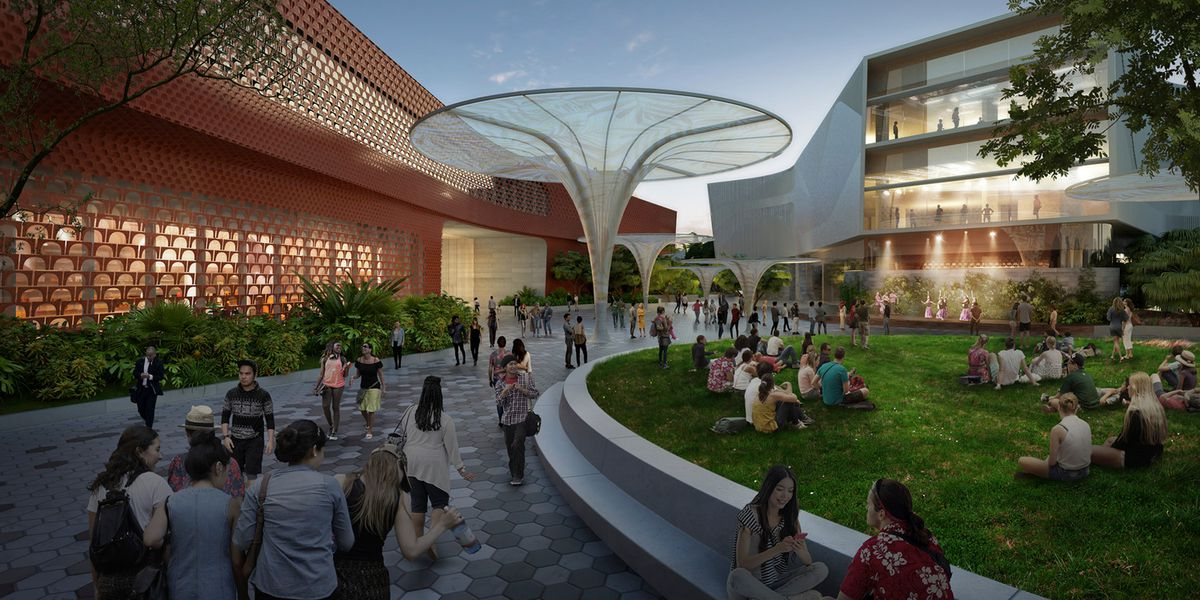 Futuristic-looking Blaisdell Center renderings show glimpse of what's to come