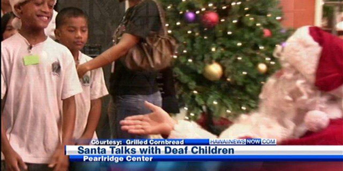Santa Claus also uses sign language