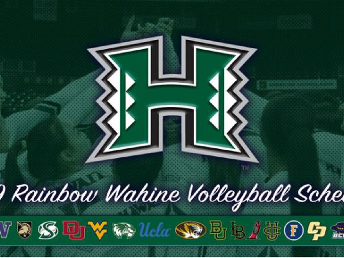 Wahine volleyball releases 2019 schedule