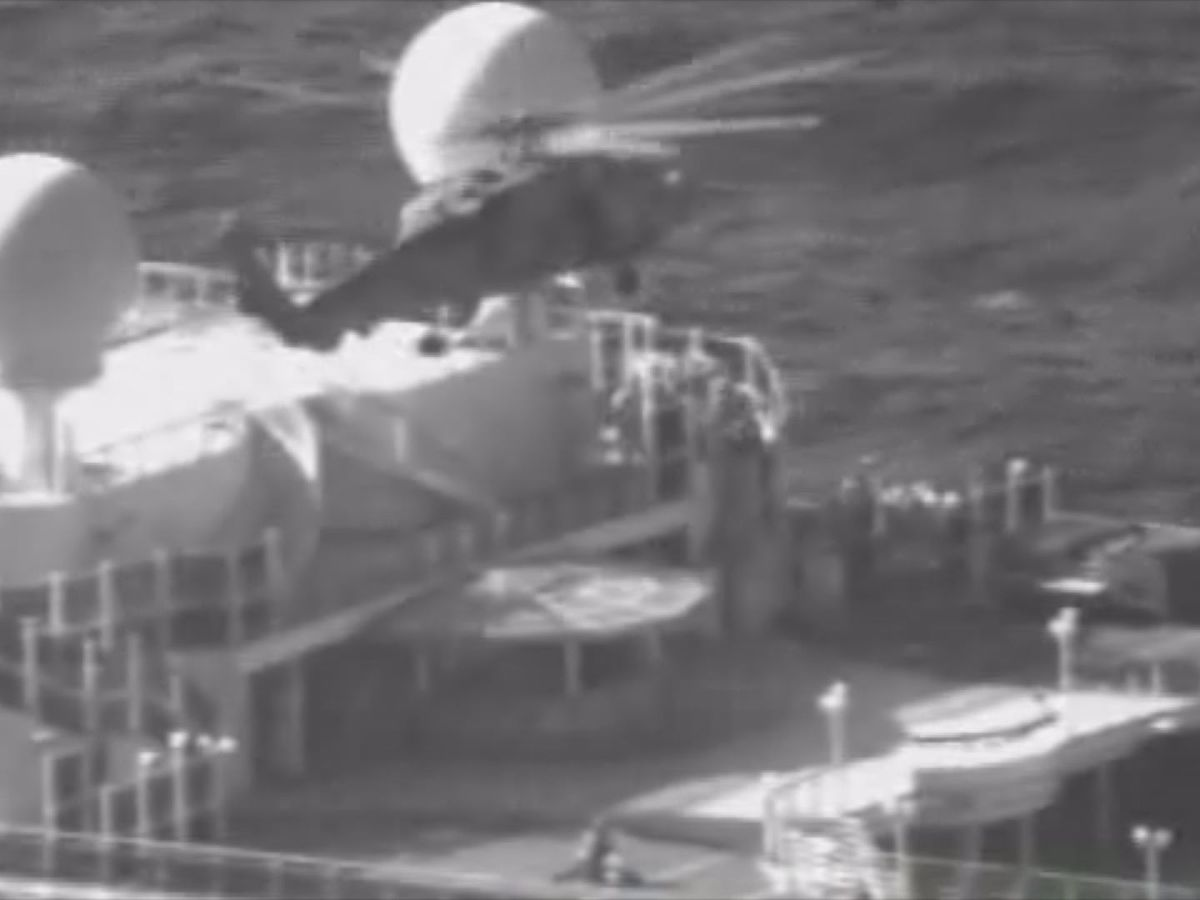 Coast Guard releases video from rescue of cruise boat passenger