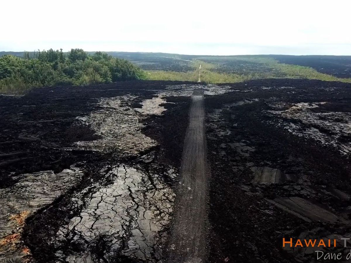 Work to clear Hawaii Island's Highway 132 of lava rock progresses