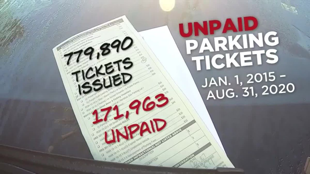 20% of all parking tickets issued over the last 5 years went unpaid, state records show