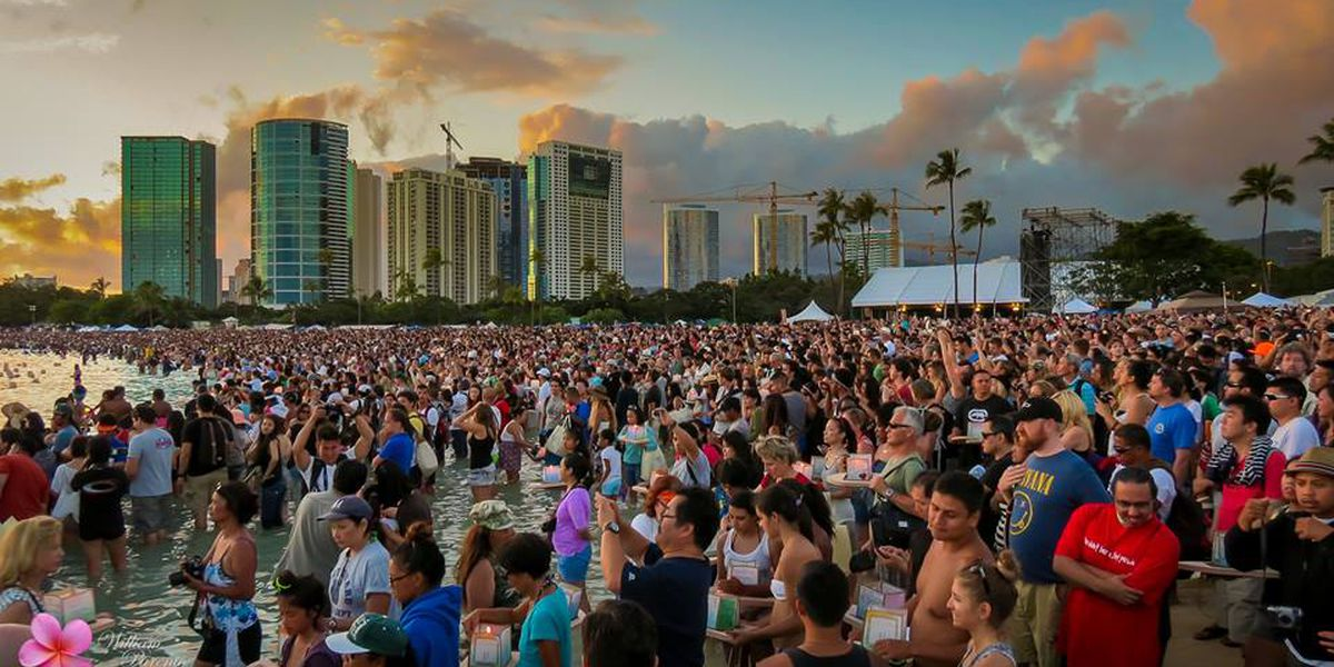 Parking changes in effect for Lantern Floating Hawaii ceremony