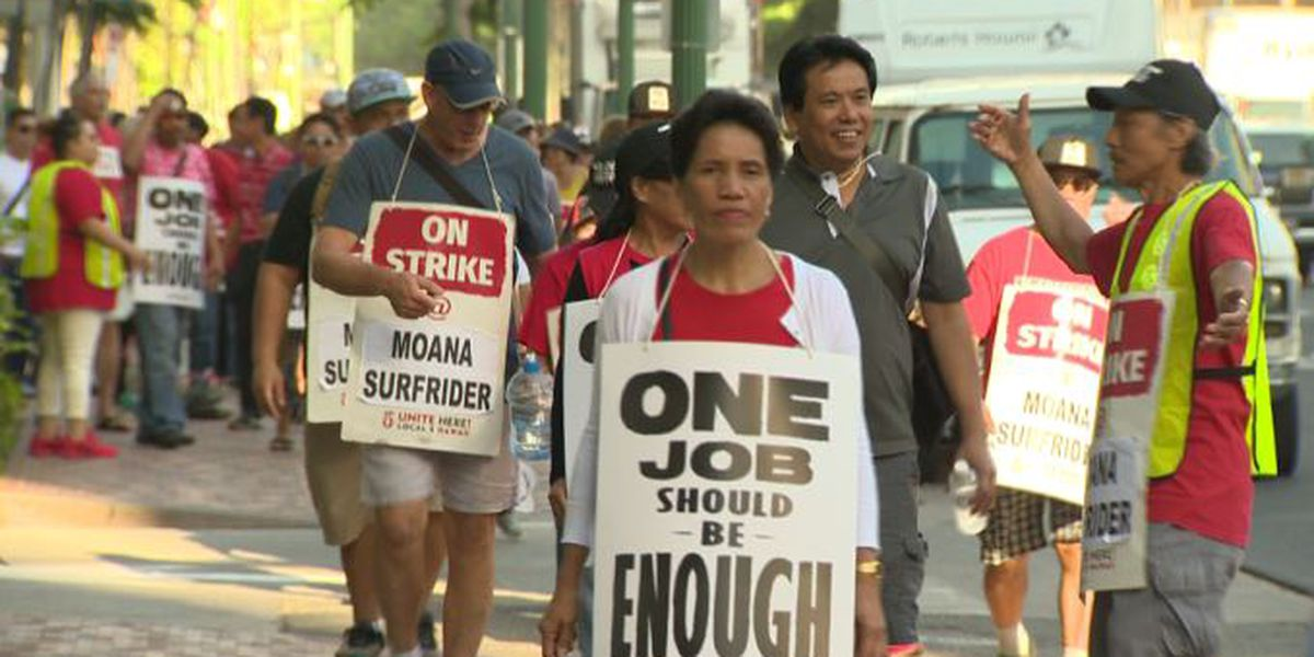 As striking workers walk picket lines for 5th day, hotels post 'help wanted' ads