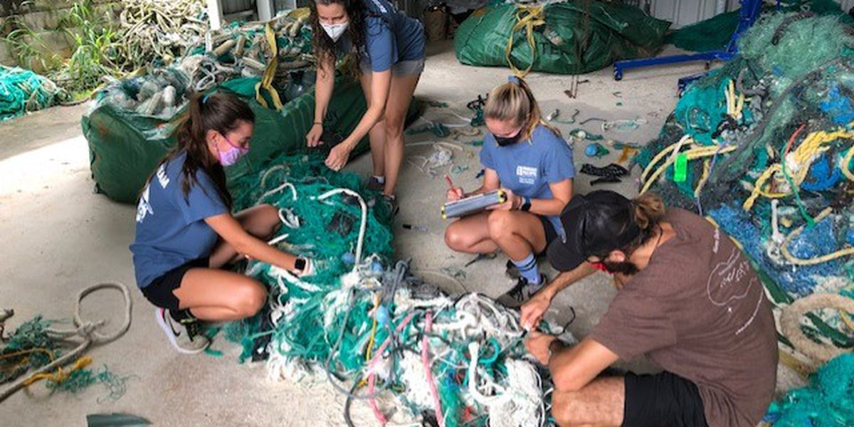 Marine debris research team fishes for clues in tons of 'ghost nets'