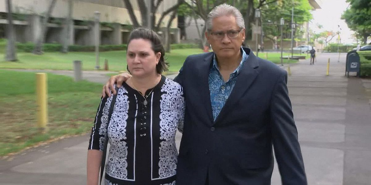 As both await sentencing, ex-police chief files for divorce from his wife