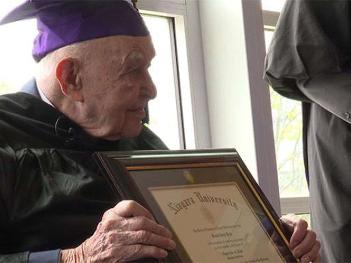 75 years after leaving school for war, veteran receives diploma