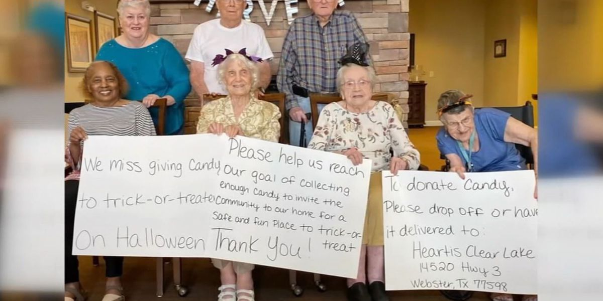 Senior home asks for candy to give out on Halloween