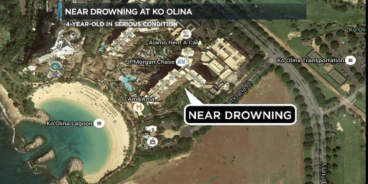 Boy, 4, in serious condition after found at bottom of Aulani swimming pool